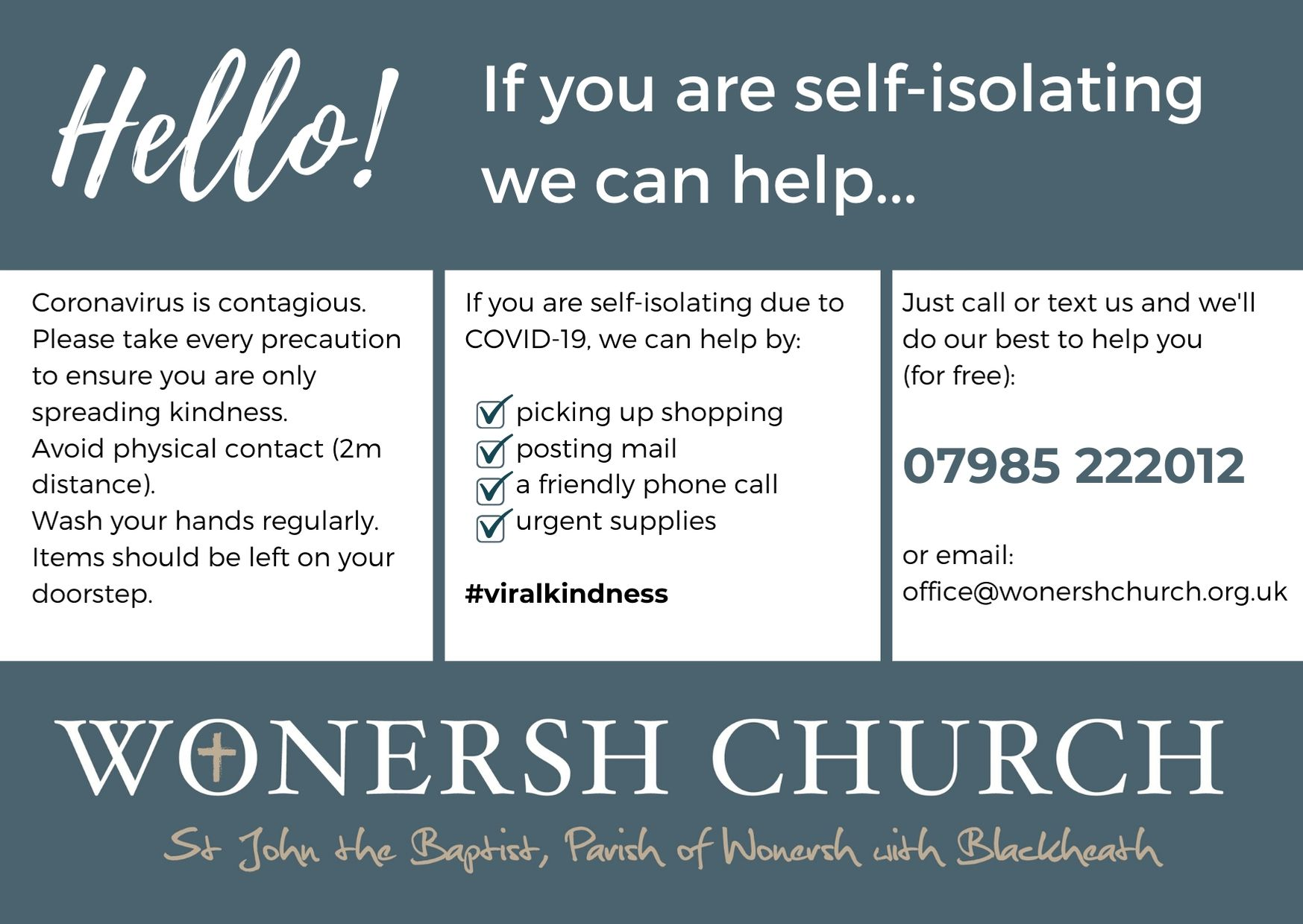 Self-isolating help card