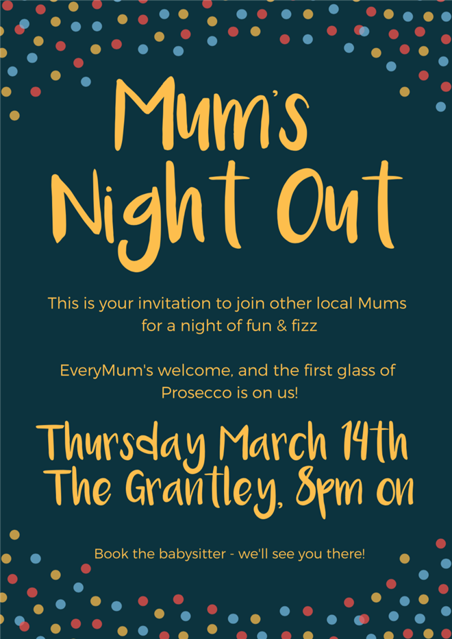 Mums Night out poster